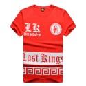 Camiseta Egípcias Last Kings Vermelha Masculinas Balada Funk Urbana Música Hip Hop