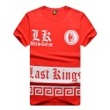 T Shirt Last Kings Red Men's Hip-Hop Ballad Funk Urban Hip Hop Music