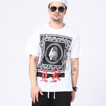 Shirt White Last Kings Egyptian Men's Ballad Funk Music Hip Hop Brand