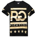 T Shirt RICH GANG Men's Ballad Funk and Gold Hip Hop Gold