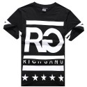 T Shirt RICH GANG Men's Ballad Funk Black Hip Hop Black