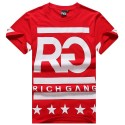 T Shirt RICH GANG Men's Ballad Funk Red Hip Hop Black