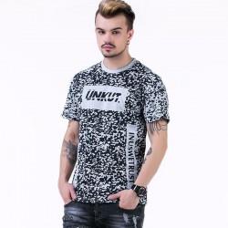 Camiseta UNKUT Cinza Streetwear Masculina Festa Funk Kings Hip Hop Loka