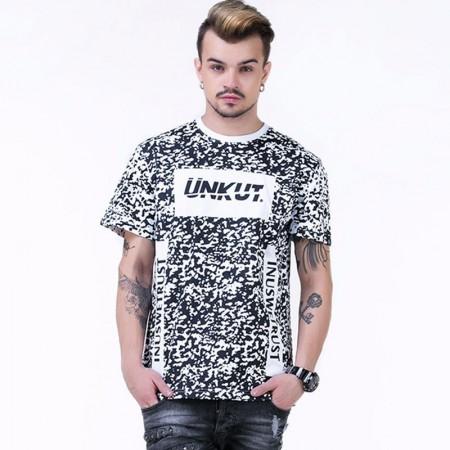 UNKUT T-Shirt Streetwear Men's White Funk Kings Hip Hop Crazy