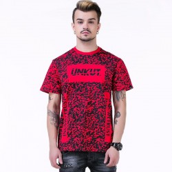 Camiseta UNKUT Vermelha Streetwear Masculina Festa Funk Kings Hip Hop Loka