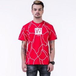 Camiseta UNKUT Vermelho Streetwear Masculina Festa Funk Kings Hip Hop Loka