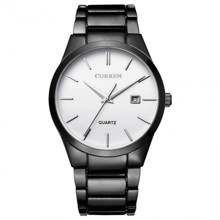 Relógio Fino Clássico Preto Masculino Elegante Formal Minimalista Escuro Sofisticado