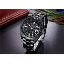 Men's Classic Black Stainless Steel Sport Watch Large Quartz