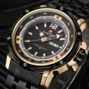 Quartz Wrist Watch Military Men's Stainless Steel Wrist Watch