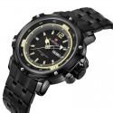 Quartz Wrist Watch Military Men's Stainless Steel Wrist Watch