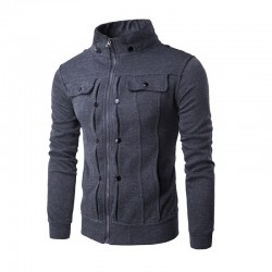 Camisola de Zíper Inverno Blusa Masculina Jaqueta Elegante Moletom