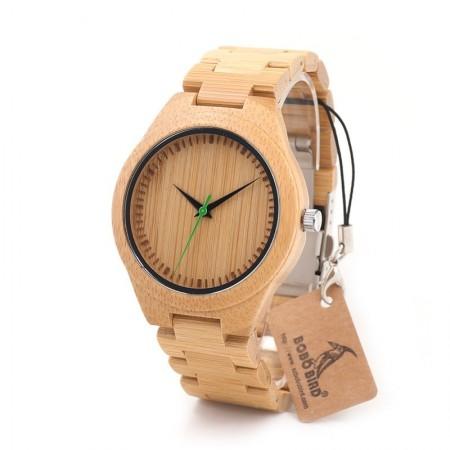 Relógio Artesanal em Madeira Natural Presente Ideal Casual Quartzo