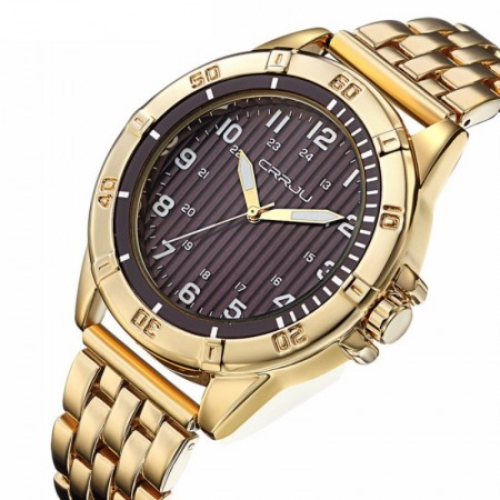 Relógio de Pulso Quartz Luxo Ouro/Prata Elegante Masculino Presidente