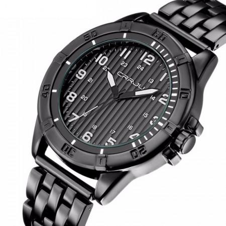 96566c041e Relógio de Pulso Quartz Luxo Ouro Prata Elegante Masculino Presidente