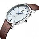 Relógio Super Fino Elegante Masculino WWOOR Discreto Luxo