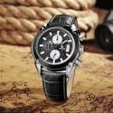 Relógio Social Elegante Esporte Masculino em Couro Luxo