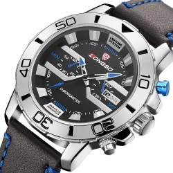 LONGBO Leather Sport Watch in Elegant Male Leather