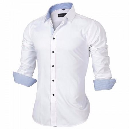 Camisa Social Slim Fit Básica Lisa Masculina Elegante de Botões