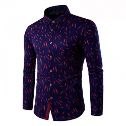 Social Print Violet Holiday Long Sleeve Party Casual