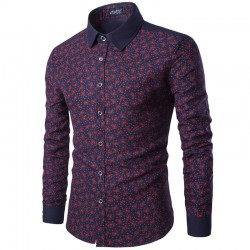 Slim Fit Slim Fit Floral Men's Casual Summer Casual Luxury Luxury
