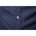 Social Slim Fit Polo Shirt Navy Blue Long Sleeve Men's