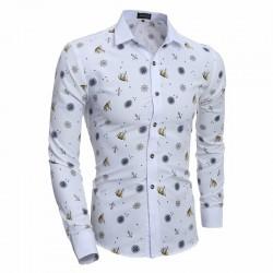 Camisa Divertida Estampada Toys Social Slim Fit Masculina Branca Casual