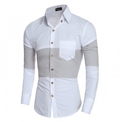 Black Social Shirt Retail Male Slim Fit Striped Party Club