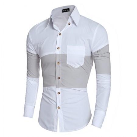 Black Social Shirt Retail Male Slim Fit Striped Party Club