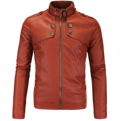 Leather Jacket Men's Lisa Slipway Rain Adventure Fashion
