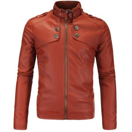 Leather Jacket Men's Lisa Slipway Rain Adventure Fashion