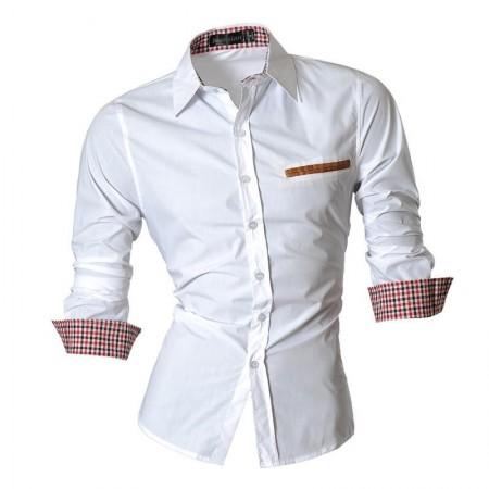 Social Sky Blue Slim Fit Men's Casual Slim Casual Long Sleeve Button