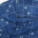 Jeans Slim Slim Blue Men Casual Shirt Long Sleeve Print