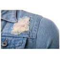 Camisa Jeans Lavado Masculina Jaqueta Casual jeans Slim Fit Manga Longa