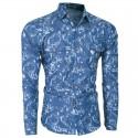 Camisa Estampada Masculina Social Slim Fit Havaiana Férias de Verão