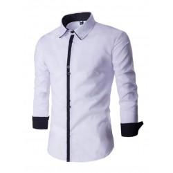 1592ec4fca Camisa Social Preta Slim Fit Masculina Casual Festa Noite Manga Longa
