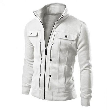 Jaqueta Elegante Casual Masculina Branco