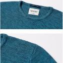 Camiseta Pulôveres Listrada de Inverno Blusão Cinza e Preto de Frio Grosso