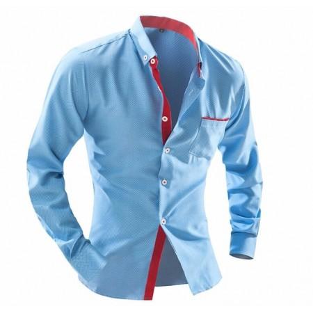 White Slim Social Men's Long Sleeve Elegant Party Shirt