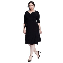 Plus Size Women's Dress Black Elegant GG Extra Large Party