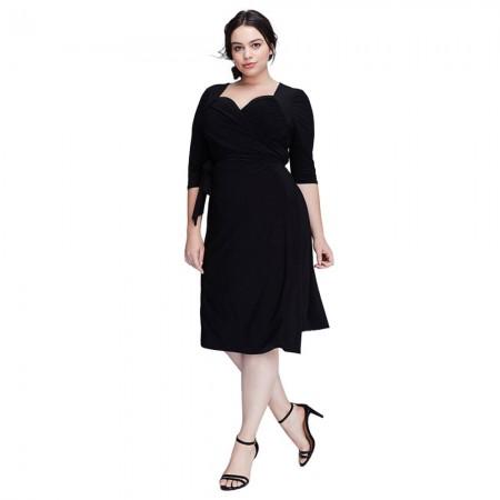 Vestido Plus Size Feminino Preto Elegante Festa Extra Grande GG