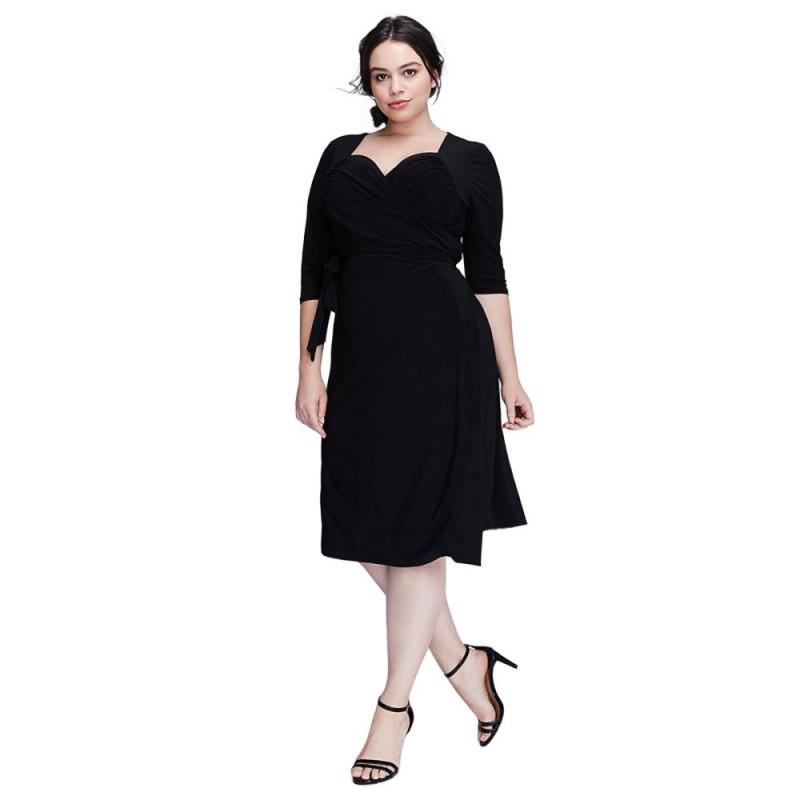 9ae5abd0fc4a Vestido Plus Size Feminino Preto Elegante Festa Extra Grande GG