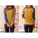 Women's Cool Blouse Fofa Linda Long Sleeve Casual Wool Striped Pullover