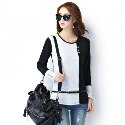 Women's Casual Long Sleeve Casual Work Blouse Two Colors