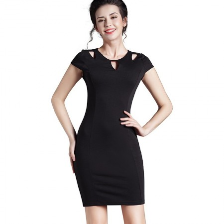 Black Working Dress Comfortable Black Fashion Formal Ladies