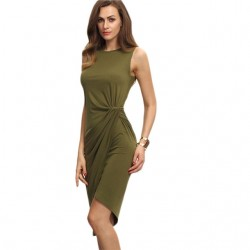 Dress, Scruffy, Green, Opaque, Casual, Woman, Working,