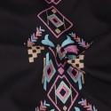 Vestido Country Feminino Preto Mexicano usar com Botar Desalinhado