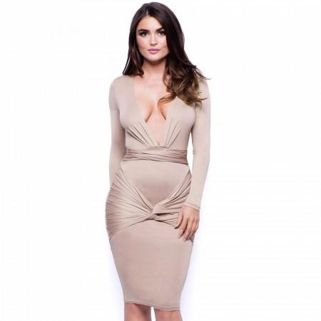 Elegant Knee-length Women's Dress
