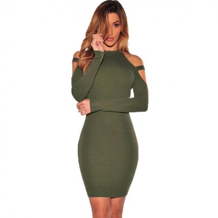 Midi Dresses Dropped Sleeve Long Sleeve Party Club Fashion Casual Empire