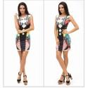32efa78208 Dress Fashion Geometric Art Abstract Fashion Tropical Summer