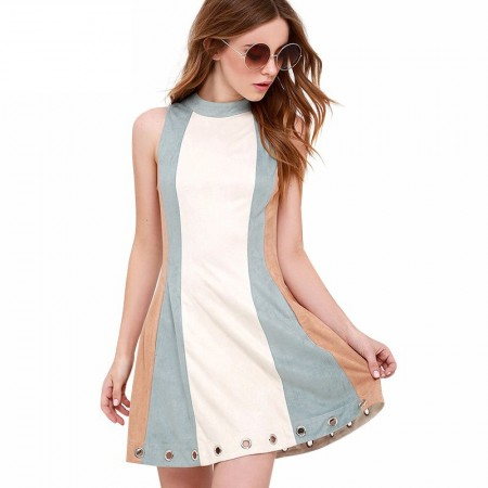 887/5000 Lit Short Dress Casual Working Pastel Colors Beach Fashion Basic